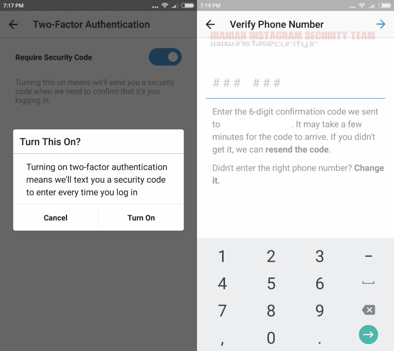 TwoStep3 - بالا بردن امنیت پیج اینستاگرام در 5 مرحله به صورت حرفه ای